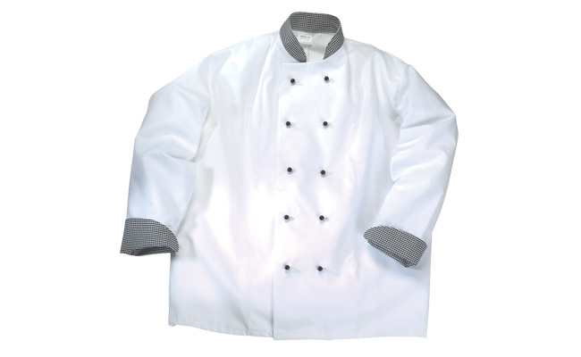 Gingham Trim Chef Jackets