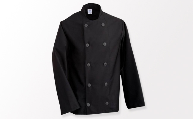 Black Chef Jackets Long Sleeve