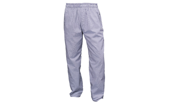Blue Gingham Chef Trousers