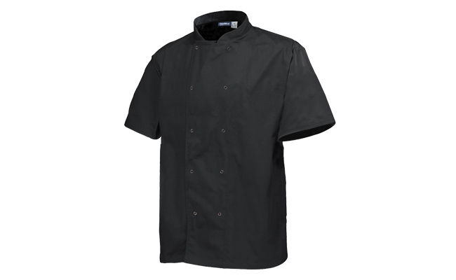 Black Chef Jackets Short Sleeve