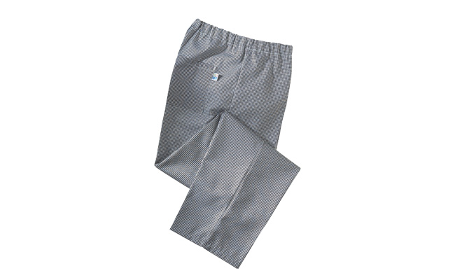 Black Gingham Chef Trousers