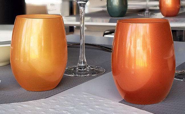 C&S Primarific Metallic Hi Ball Tumblers