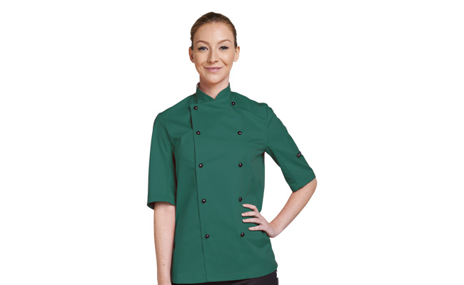 Coloured Short Sleeve Chef Jackets