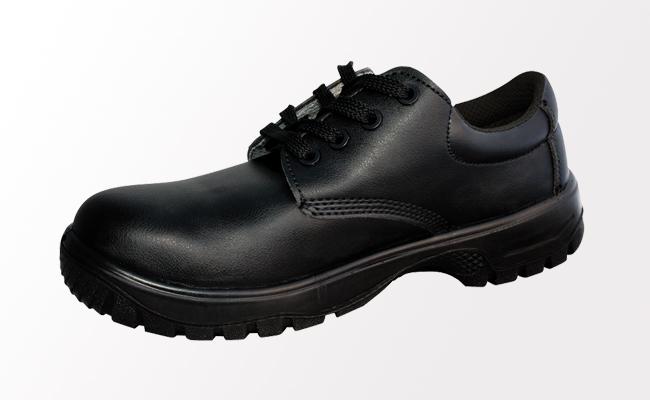 Comfort Grip Black Safety Shoes