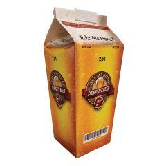 2 Pint Beer Hopper Beer Carton