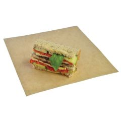 Vegware Recycled Unbleached Greaseproof Paper 30x27cm