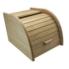 Small Wooden Roll Top Bread Bin