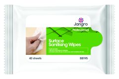 VIRUCIDAL SURFACE SANITISING WIPES HANDY PACK 20X17cm   (40)