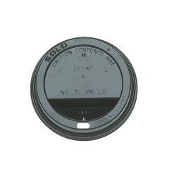 Black Hot Cup Sip Lid 12oz & 16oz