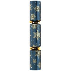 """Blue & Gold Snowflake Crackers 12"""""""