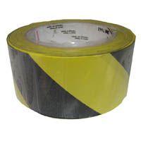 "Hazard Tape Yellow & Black 2"" x 33m"