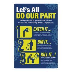 Catch It Kill It Bin It A4 Poster