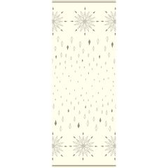 Cream & Gold Printed Airlaid Tablecover 120x180cm