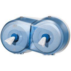 SmartOne Blue Twin Mini Toilet Roll Dispenser.