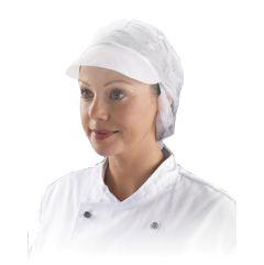 White Snood Hygiene Hat