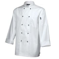 Superior Long Sleeve White Chefs Jacket (S)