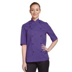 Purple Short Sleeve Chef Jacket (S)