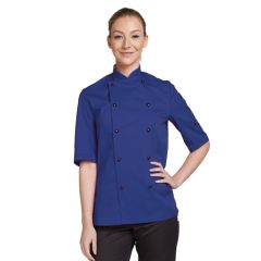 Royal Blue Short Sleeve Chef Jacket (M)