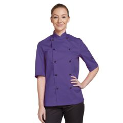 Purple Short Sleeve Chef Jacket (L)