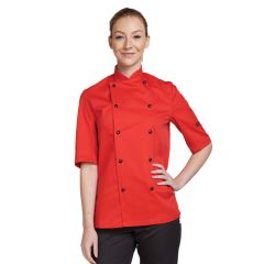 Red Short Sleeve Chef Jacket (L)