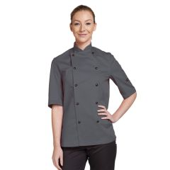 Storm Grey Short Sleeve Chef Jacket (XL)