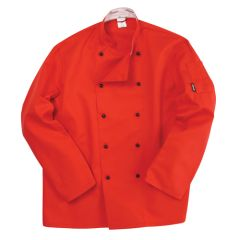 Red Long Sleeve Chef Jacket (L)