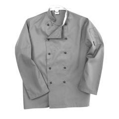 Storm Grey Long Sleeve Chef Jackets (XL)