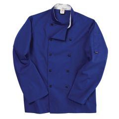Royal Blue Long Sleeve Chef Jacket (XL)