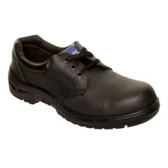 Comfort Grip Black Leather Safety Shoes Size 12