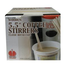 """Wooden Coffee Stirrers 5.5"""" (1000)"""