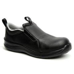 Safety Lite Slip-On Safety Black Shoes Size 6