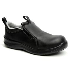 Safety Lite Slip-On Safety Black Shoes Size 11