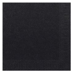 Duni Black Lunch Napkin 33cm