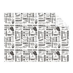Vegware Grill Print Greaseproof Sheets 400x300mm (1000)