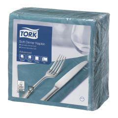 Tork Soft Teal Dinner Napkin 3ply 40cm (1200)