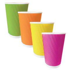 Rainbow Triple Wall Ripple Hot Cup 16oz (20x50)