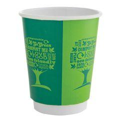 Vegware Green Tree Double Wall Hot Cups 12oz (500)