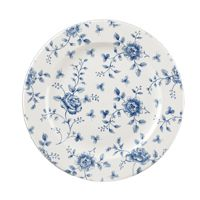 "Vintage Prague Rose Chintz Plate 10.9"" (6)"