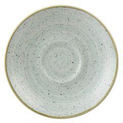 "Churchill Stonecast Duck Egg Blue Saucers 6.25"" (12)"