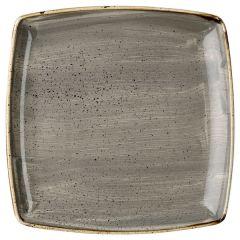 "Churchill Stonecast Peppercorn Grey Deep Square Plate 10.25"" (6x1)"