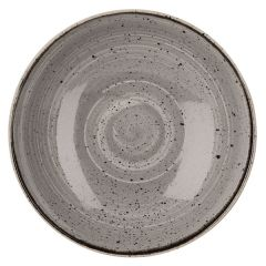 "Churchill Stonecast Peppercorn Grey Coupe Bowl 7.25"" (12x1)"