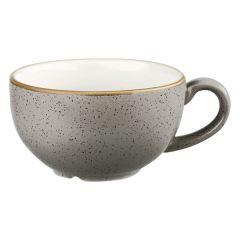 Churchill Stonecast Peppercorn Grey Cappuccino Cup 8oz (12x1)