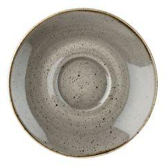 "Churchill Stonecast Peppercorn Grey Cappuccino Saucer 6.25"" (12x1)"