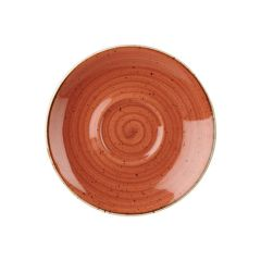 "Churchill Stonecast Spiced Orange Cappuccino Saucers 6.25"" (12)"