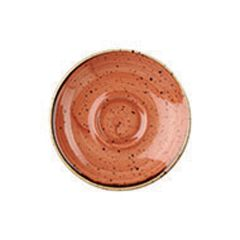 "Churchill Stonecast Spiced Orange Saucers 4.5"" (12)"