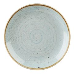 """Churchill Stonecast Duck Egg Blue Coupe Plate 12.75"""" (6)"""