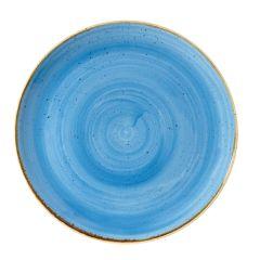 "Churchill Stonecast Cornflower Blue Coupe Plate 11.25"" (12)"