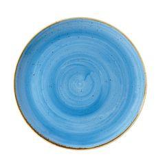 "Churchill Stonecast Cornflower Blue Coupe Plate 10.25"" (12)"