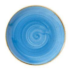 "Churchill Stonecast Cornflower Blue Coupe Plate 6.5"" (12)"