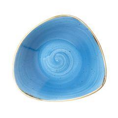 "Churchill Stonecast Cornflower Blue Triangular Bowl 7.25"" (12)"